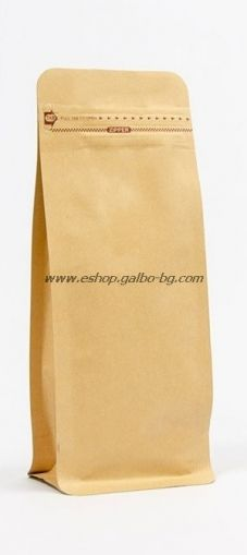 Кафяв плик тип кутия, с цип  500 гр, 50 бр
