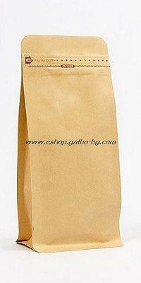 Кафяв плик тип кутия, с цип 115х80х230мм 250 гр, 50 бр