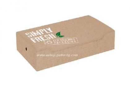 Картонена кутия за клуб сандвич БИО  GREEN LINE  22*13*5,5 см  25/500 бр
