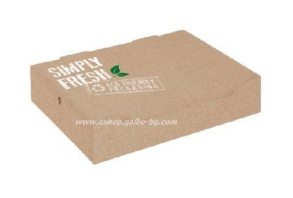 Картонена кутия  GREEN LINE за гофрети и палачинки  22*18*5 см  25/400 бр