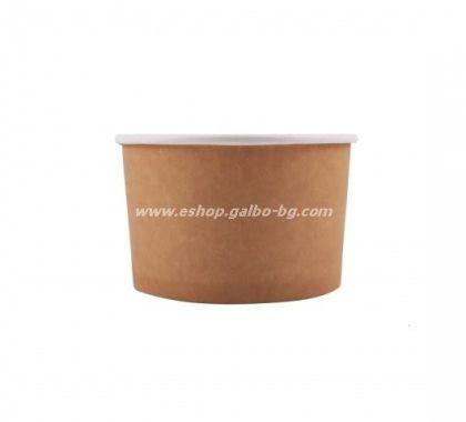 Картонена купа за сладолед 400 мл КАФЯВА,  25 бр