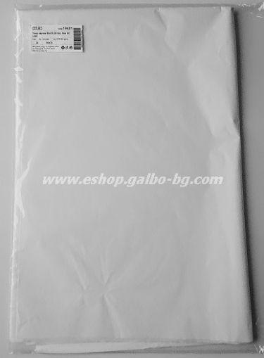 Тишу хартия 50х76 см, бяла, 20 листа