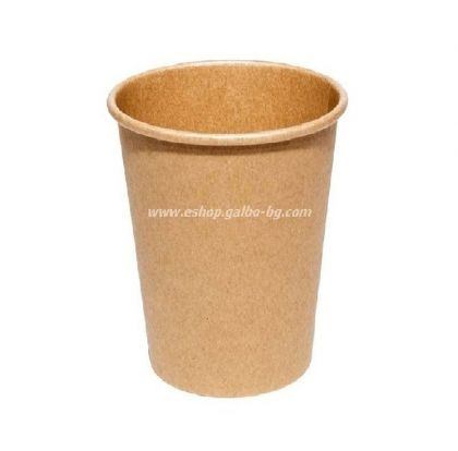 Картонена чаша KRAFT 14 oz - (350 мл)  50 / 1000 бр