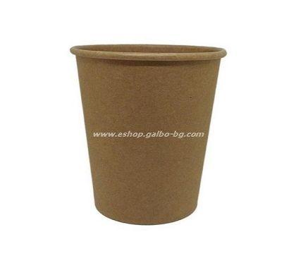 Картонена чаша 8 oz (200 мл) KRAFT   50 / 1000 бр
