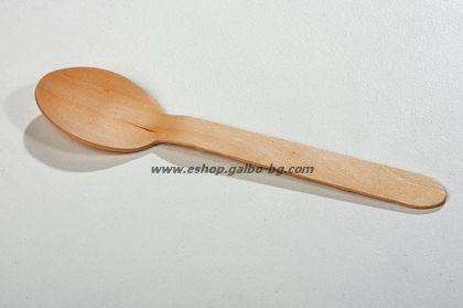Дървена лъжица  100 бр