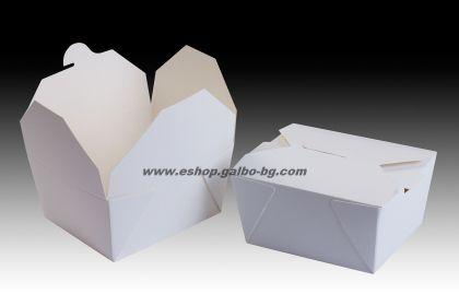 Картонена кутия за храна 700 мл  40 / 240 бр