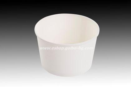 Картонена купа за сладолед БЯЛА, 400 мл,   25 бр