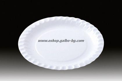 Картонена чиния кръгла 18 см  за десерти и парче торта 1000 бр