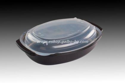 РР Черна кутия за храна МН 750 мл с капак, 50 бр. В ПРОМОЦИЯ