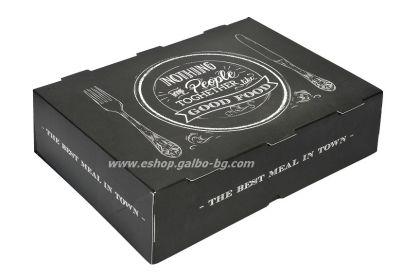 """Картонена кутия за храна """"Best Meal"""" 27*19*7,5 см  25 бр"""