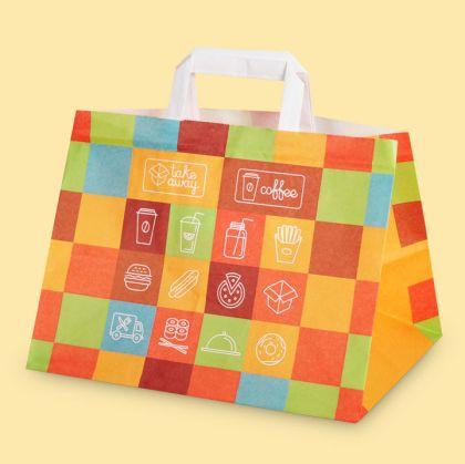 Чанта за меню с дръжки и широко дъно Take Away, 32/22/24 см 25 бр.