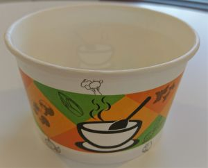 Картонена купа 400 мл за супа с капак GREEN,  50 / 500 бр