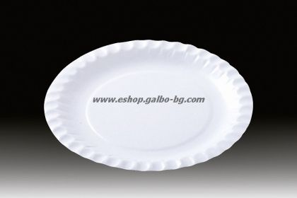 Картонена чиния кръгла 18 см за десерти и парче торта  100 бр