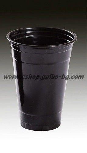 Черна (РЕТ) чаша 16 oz (400/450 мл) 50 бр