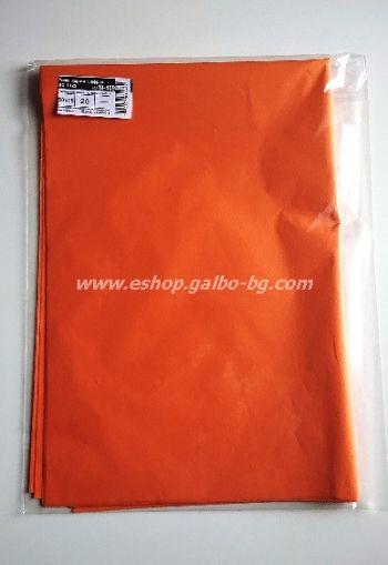 Тишу хартия 50х76 см, шафран, 20 листа