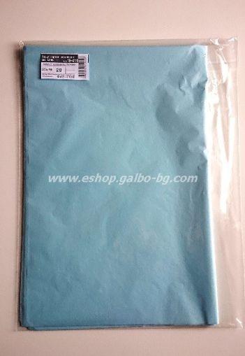 Тишу хартия 50х76 см, светлосиня, 20 листа