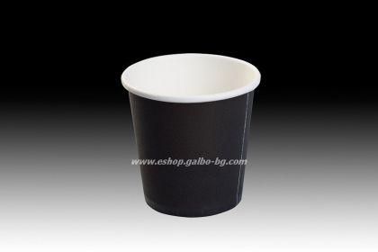 Картонена чаша 4 oz (80 мл) BLACK 50 / 1000 бр.