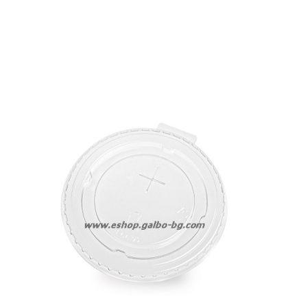 Плосък капак за PLA чаша, с цепка за сламка, 95 мм  1000 бр