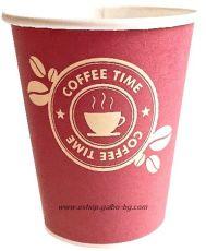 Картонена  чаша 8 oz (200 мл) COFFEE TIME 50 / 1000 бр