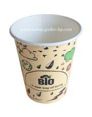 Картонена биоразградима чаша 8 oz (200 мл) BIO FUN  50/1000 бр